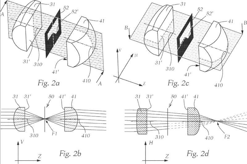 Módulo de luz de microproyección para un faro de vehículo de motor.