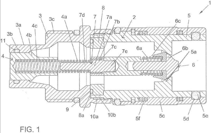 Adaptador para conectores de circuitos hidráulicos de alta presión.