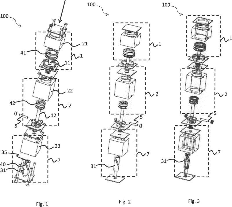 Accionador giratorio de posicionamiento múltiple controlado por un fluido.