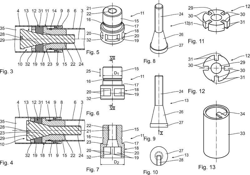 Dispositivo de fricción y amortiguador de fricción con un dispositivo de fricción de este tipo.