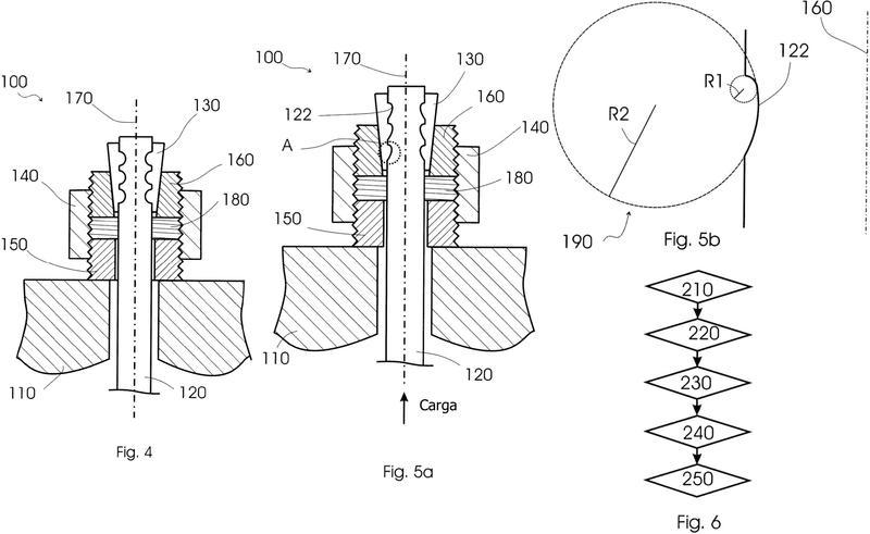 Disposición de conexión y procedimiento de fijación de un perno.