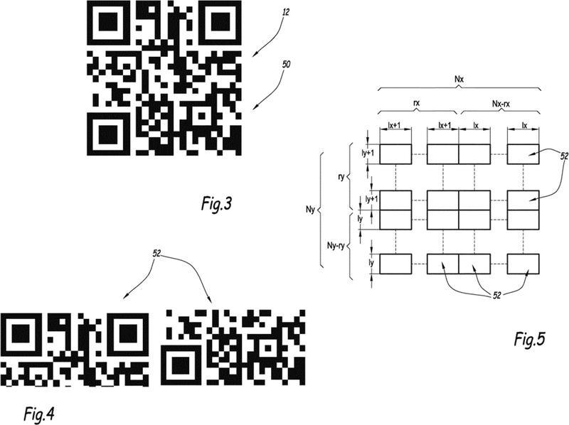 Procedimiento y sistema de visualización de al menos un código matricial sobre una pantalla para la trasmisión de datos a un equipo electrónico provisto de medios de lectura del o de los códigos matriciales.