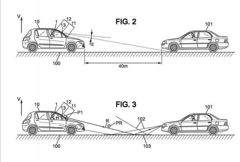 Elemento de visión filtrante que forma un parabrisas o un retrovisor para vehículo de carretera.
