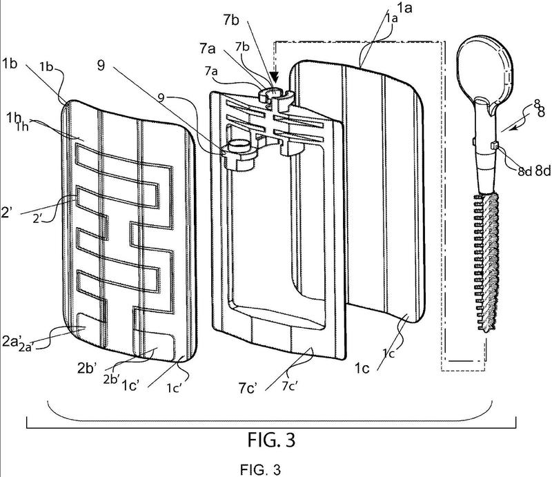 Muestreador cosmético calentado con aplicador incorporado.
