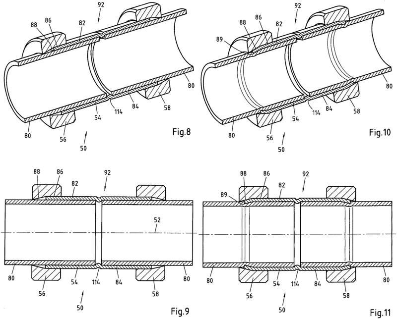Ilustración 3 de la Galería de ilustraciones de Mordaza de presión, procedimiento para fabricar una unión de tubos inseparable, una pieza de empalme, un sistema de una mordaza de presión y una pieza de empalme