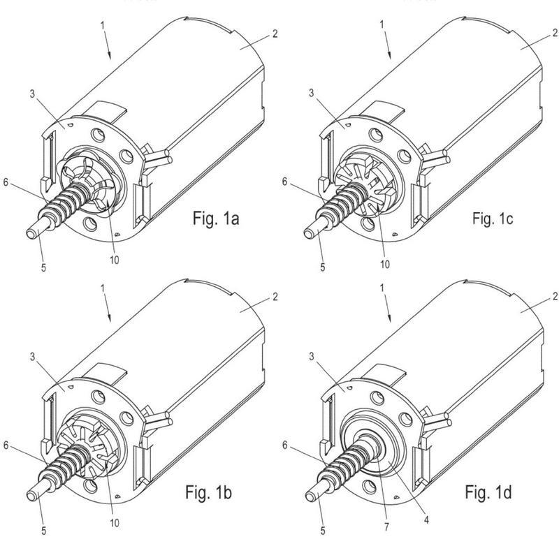 Dispositivo de freno para un motor de accionamiento eléctrico.