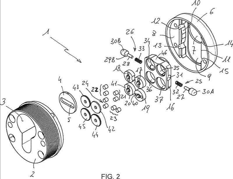 Dispositivo de seguridad para una cerradura de cilindro.