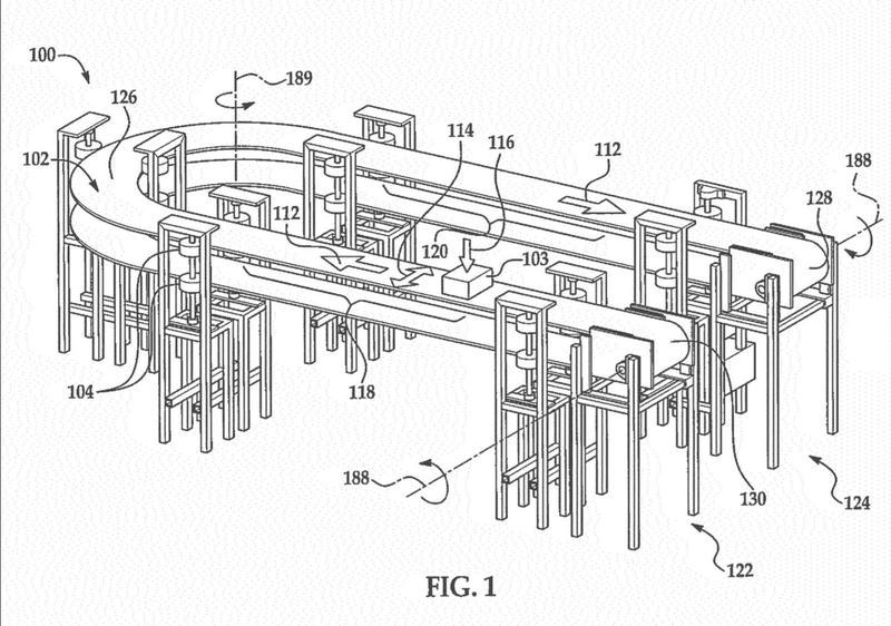 Conjunto de unión para cinta transportadora autoportante.