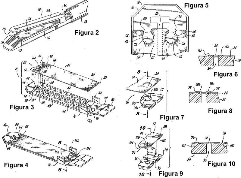 Estructura para la fijación de material de refuerzo a yunques y cartuchos de grapadoras quirúrgicas.