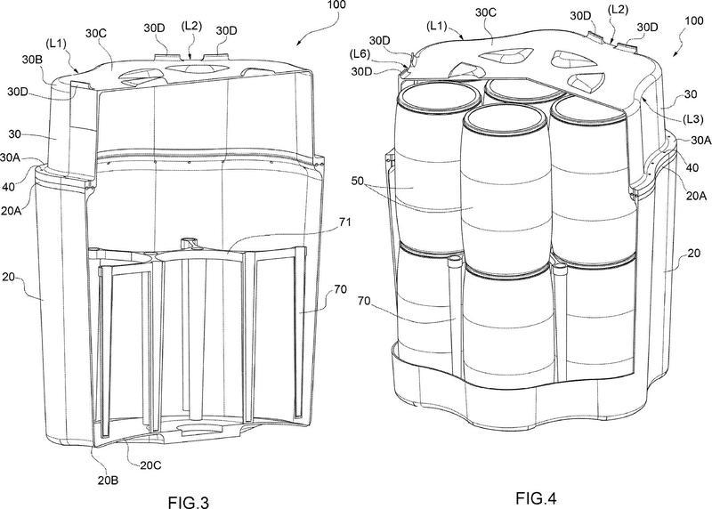 Contenedor para contener, en su interior, al menos un receptáculo conteniendo, a su vez, materiales peligrosos y sistema de contención de residuos con tales contenedores.