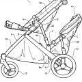 Ilustración 2 de Mejoras en un cochecito de niños plegable.