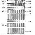 Ilustración 2 de Conjunto de combustible nuclear con rejillas dotadas de pestañas pivotantes.