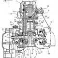 Ilustración 2 de Motor y vehículo del tipo de montar a horcajadas y método de montar la cadena.