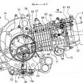 Ilustración 4 de Motor de combustión interna y motocicleta equipada con el motor.