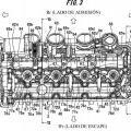 Ilustración 3 de Estructura de lubricación para motor de combustión interna.