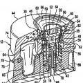 Ilustración 4 de Dispensador que presenta una cámara de almacenamiento de volumen variable y conjunto de válvula unidireccional oprimible para dispensar cremas y otras sustancias.