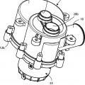 Ilustración 1 de Dispositivo de válvula de desviación, en particular para una máquina para lavar, tal como un lavavajillas.