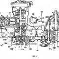 Ilustración 2 de Transmisión de tipo correa en V para una motocicleta.