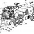 Ilustración 2 de Pieza de artillería y vehículo militar.