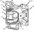 Ilustración 4 de Soporte de cojinete para la articulación de una barra de acoplamiento en una caja de vagón de un vehículo guiado sobre raíles.