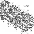 Ilustración 4 de Transportador de listones que tiene listones de transporte y listones de elevación/sujeción.