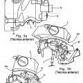 Ilustración 3 de Motor de vehículo de motor con unidad de filtro de aire integrado.