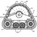 Ilustración 1 de Orejetas para orugas continuas de caucho para vehículos de orugas.