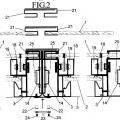 Ilustración 2 de Pantalla corredera vertical de control y dirección acústica accionada por motor.