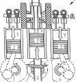 Ilustración 2 de Motor de émbolo alternativo con compensación de masas mejorada.