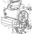 Ilustración 2 de Cabeza modular de alimentación para una máquina de flejar con motor de inversión.